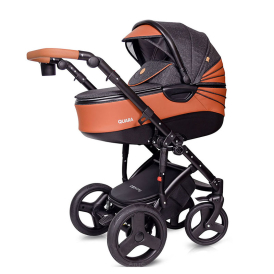 """QUARA"" wózek 3w1 kolor 02/ DARK GREY BROWN ECO firmy COTOBABY"